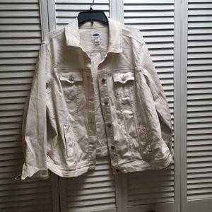 White denim jacket from Old Navy